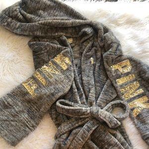 Victoria's Secret PINK bathrobe w/ hood & pockets